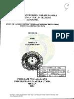 kajian atas landreform dalam Rangka Pembangungan Hukum Ekonomi Indonesia