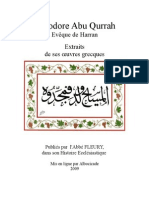 Extraits des oeuvres grecques d'Abu Qurrah