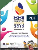 Reglamentos Tecnicos Juegos Nacionales 2013