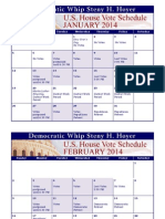 2014 Legislative Calendar