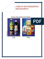 Chemical Used in Housekeeping