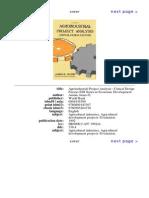 Austin James E. - Agroindustrial Project Analysis