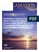 Report113 Desalination - Surface Water Runoff- Quality Pretreatment Pathogen Removal