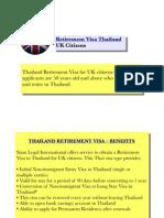 Retirement Visa Thailand (UK Citizens)