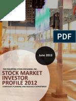 Philippine Stock Market Investor Profile 2012