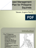 Proposed Management Plan for Philippine Squirrels