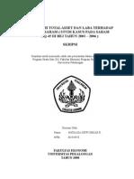 Pengaruh Total Asset Dan Laba Terhadap Harga Saham ( Studi Kasus Pada Saham LQ-45 Di BEJ Tahun 2003 - 2006 )
