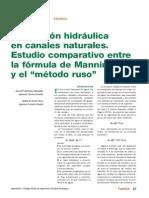 Estudio Comparativo Entre Formula de Mannig y El Metodo Ruso