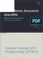 Haskell Arrays Accelerated with GPUs