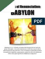 Prayers of Renunciation - BABYLON