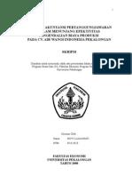 Peranan Akuntansi Pertanggung Jawaban Dalam Menunjang Efekyivitas ian Biaya Produksi Pada CV Air Wangi Indonesia Pekalongan