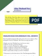 90-Day Thailand Visa (US Citizens)