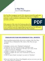1 Year Thai Visa Citizens of United Kingdom