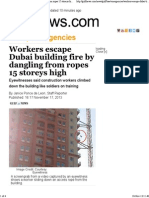 Workers Escape Building Fire by Dangling From Ropes 15 Storeys High