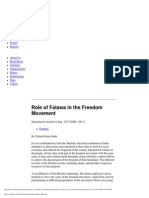 Role of Fatawa in the Freedom Movement of India