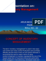 Concept of Inventory Management