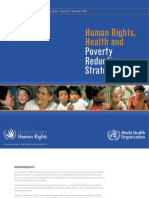 Human Rights, Health and Poverty Reduction Strategies