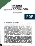 Lucio Colleti - El Marxismo Como Sociologia