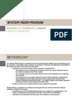 09-0043 Washington Examiner Mystery Rider Program Summary