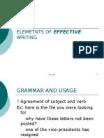 Elemetnts of Effective Writing