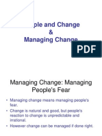 People and Change and Managing Change