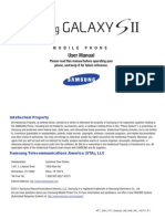 User Manual Guide Samsung Galaxy sII