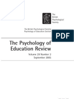 The Psychology of Education Review Vol 29 No 2 Sept 05