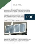Solar Pannel Doc