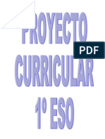 PROYECTO CURRICULAR 1º ESO