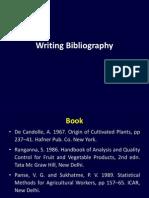 Writing Bibliography