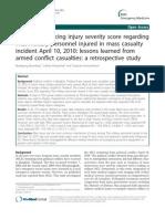 Factors Influencing Injury Severity Score Regarding
