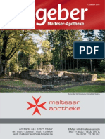 Ratgeber aus Ihrer Malteser-Apotheke – Januar 2014