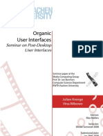 Organic User Interfaces