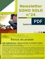 Newsletter Soho Solo n24 Septembre09