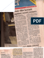 12--24-2008 - State of Tennessee Files Lawsuit Against Resort Owner - Reelfoot Lake Tennessee - Riparian Rights North Carolina Landgrants 1788