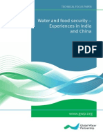 03 Water and Food Security - Experiences in India and China (2013)