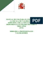 manual uso valoracion 3 años
