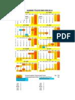 Calendario 2013-14 - GRADO