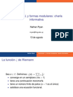 Funciones L y Formas Modulares