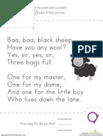 Find a Nursery Rhyme Kindergarten