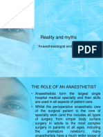 Reality n Myth - Anaesthetists and Ultrasound