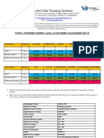 TOFD - PA Course Schedule 2014