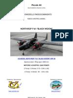 VQ MODEL P-61 BLACK WIDOW ARF 90 RC
