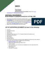 Passport Renewal Requirements