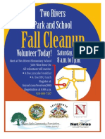 Two Rivers Fall Clean-Up Flyer & Waiver