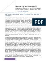 Anteproyecto de Ley de Compromiso Nacional contra la Pasta Base de Cocaína (PBC)