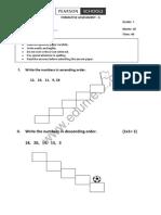 Cbse Class 1 Maths Question Paper Fa 2