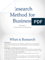 Research Method for Business-Ch1-Intro to Research