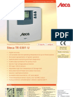 Buderus TR0301 U Solar Thermal System Control Brochure