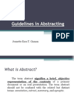 Guidelines in Abstracting